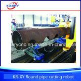 Macchina di smussatura di taglio alla fiamma del plasma di CNC del tubo d'acciaio del grande diametro della strumentazione marina