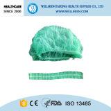 Nichtgewebter Schutzkappen-chirurgischer Wegwerfpöbel-Bouffant Schutzkappe