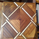 Plancher conçu par parquet en bois matériel d'art de plancher de mosaïque de décoration