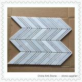 Mattonelle di mosaico di marmo bianche della Cina Bianco Carrara per la decorazione della parete (striscia)