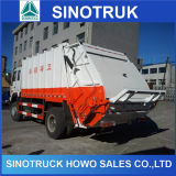 Camion di immondizia speciale del costipatore della rotella 12cbm del camion 6 di Sinotruk HOWO