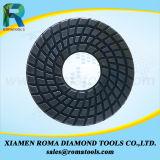 As almofadas de polonês do diamante de Romatools molharam o uso para o granito, mármore
