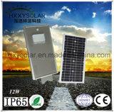 Sensor de movimiento integrado todo en uno de 12W Luz solar calle