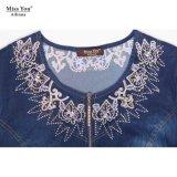 Miss You Ailinna 801228 Vestido bordado Denim clásico para mujer