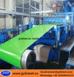 Hojas de acero galvanizadas revestidas coloreadas en las bobinas para el material de construcción