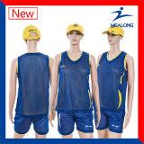 O bom projeto de Healong ostenta a camisola do basquetebol dos homens reversíveis do Sublimation da engrenagem do fato
