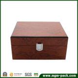 Personalizados de alta calidad caja de madera del reloj Negro