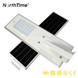 Énergie solaire rechargeable rue solaire lumières LED avec batterie au lithium