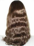 Pelo humano del 100%/pelucas judías Sheitels de la onda de la carrocería