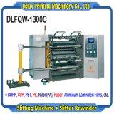 Haute Vitesse automatique du papier film informatisé de refendage de coupe de la machine avec moteur Servo Drive (DLFQW-1300C)