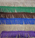 Vender por atacado mais franja bem escolhida da cor para a cortina