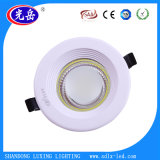 Stile rotondo/bordo dorato 7W SMD LED Downlight/LED giù che si illumina