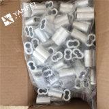 Chemises en aluminium de sablier pour le câble métallique