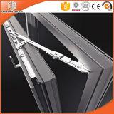 Poudre enduisant le guichet en aluminium de tissu pour rideaux de couleur noire