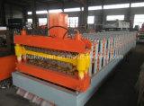 Rodillo de acero acanalado que forma la máquina