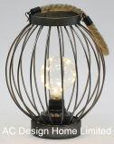 고대 둥근 금속 야영 손전등 W/LED 전구
