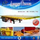 판매를 위한 반 20ft 40ft 콘테이너 트레일러 (평상형 트레일러와 sekeleton 선택권)