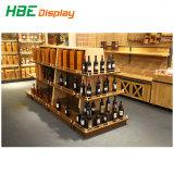 Cremagliera personalizzata alla moda del vino del metallo e di legno