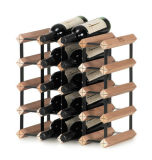Wood and Metal Wine Rack Shabby Chic, Retro, Boho, Ustensiles de cuisine