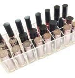 sostenedor cosmético de acrílico claro del lápiz labial del organizador del 14.4*9.6*7.3cm