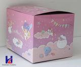 Rectángulo de regalo de empaquetado de papel modificado para requisitos particulares venta caliente del papel colorido del diseño