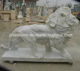 Het Snijdende Beeldhouwwerk van de Leeuw van de steen voor de Decoratie van de Tuin