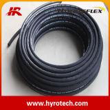 Mangueira de borracha hidráulica SAE 100 R2 da trança de dois fios em
