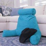 高いの上に青坐るロデオ-調節可能で中二階大きい読書のためのバンジー、取り外し可能なカバー及びジッパー及びアームを搭載するベッド休養の枕の取り外し可能な首ロール