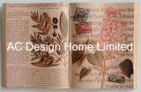 Het elegante Art. van de Muur van de Vorm van het Boek van het Ontwerp Pu Leather/MDF van de Bloem Houten