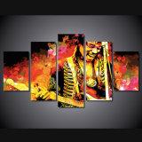 HD 5PCS Impreso Jimi Hendrix Música Guitarrista Impresión Sala Decoración Impresión Cartel Cuadro Lienzo Mc-084