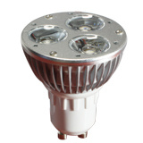 Bulbo do projector do diodo emissor de luz de GU10 3W (GN-HP-WW1W3-GU10)