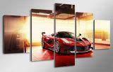 HD imprimiu a lona luxuosa vermelha Mc-134 do retrato do poster da cópia da decoração do quarto de cópia da lona de pintura do carro de esportes