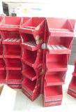 Présentoir de papier avec 5 étagères, présentoir de carton, étalage d'étagère, étalage de Foire