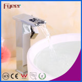 Fyeer High Body Brass Auto-geração Waterfall LED Basin Faucet