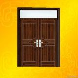 Doule laisse à PVC d'ouverture la porte intérieure