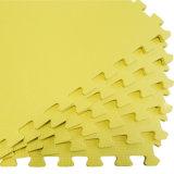 De goedkope Mat van het Schuim van EVA van de Textuur van de Prijs Grote recycling Geborstelde Gele