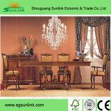 側面表の純木の管理の机(HY-D8716)が付いているクルミの家具