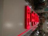 상점 사슬 정면 분명히한 LED 빛 열려있는 물집 표시 합성 수지 에폭시 표시 아크릴 빨간 채널 편지를 저장하십시오