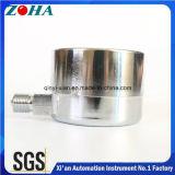 2.5 polegadas escala dobro de 3 manómetros da cápsula da polegada micro com chapeamento niquelar de bronze do conetor