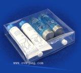 Sac cosmétique normal de promotion de sac d'EVA d'extension avec le bouton en plastique sur le dessus