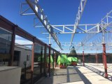 Construction de toit de pavillon de structure métallique avec le creux de la jante inoxidable
