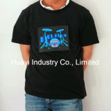 LED EL Light up Flashing Marketing T Shirts