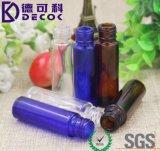 Rullo di vetro blu sulle bottiglie con qualità della sfera di metallo migliore [rullo] dell'acciaio inossidabile 10ml (1/3oz)