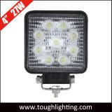 12V 24V 4in Square 27W à LED lampe de travail pour les tracteurs de camions