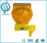Solar Whlosale carretera barricada de luz LED peligro para el tráfico luz de advertencia