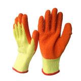 Baumwollgarn-Latex-Beschichtung-Handschuhe