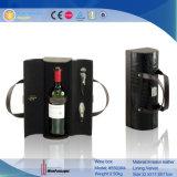 De draagbare Enige Carrier van de Wijn van het Leer van Pu (5593)