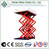 Plataforma de trabajo hidráulico de elevación de las tijeras, muebles, el hombre Levante