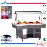 Сделано в холодильнике индикации штанги салата коммерчески цвета Китая стальном