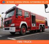 HOWO 6X4 10 CBM HOWO Camion de Pompiers de mousse / 3essieux camion à incendie